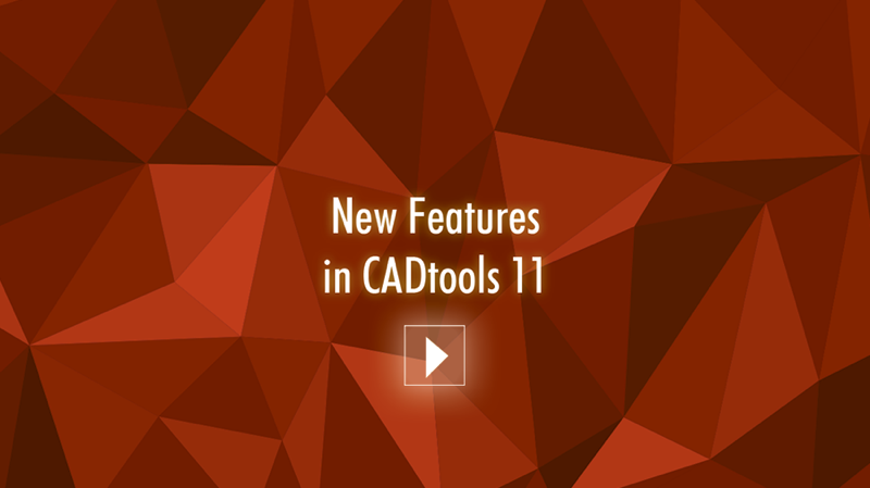 CADtools 11 New Features video graphic