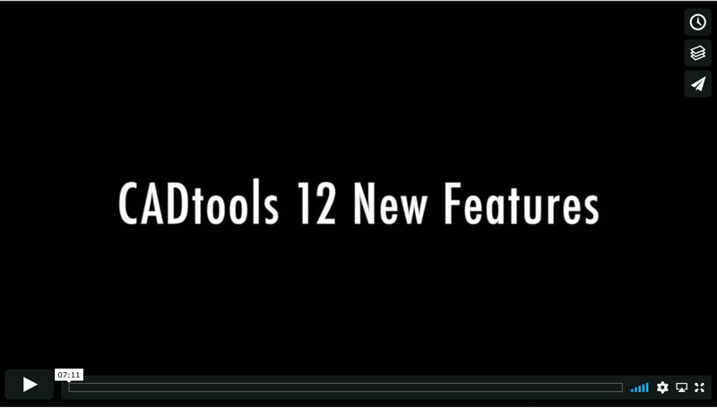 CADtools 12 New Features video graphic